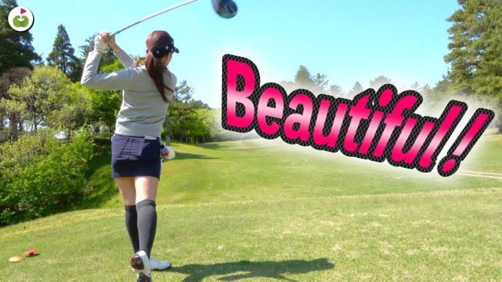 ビュ〜ティフォ〜ショット炸裂!|リンゴルフ じゅんちゃん、ゆきちゃん vs Sense Golf Grip 竹内さん、村田さん ダブルスマッチプレー対決!#6