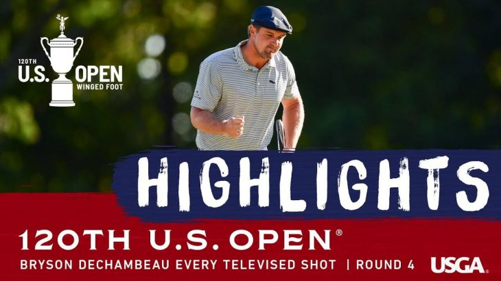 Bryson Dechambeau(ブライソン・デシャンボー) Highlights|Every Shot|Round 4|2020 U.S. Open Championship
