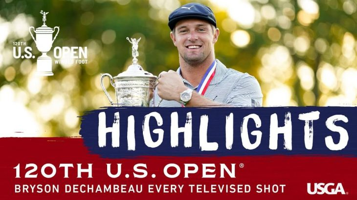 Bryson Dechambeau(ブライソン・デシャンボー) Highlights|Every Televised Shot|2020 U.S. Open Championship