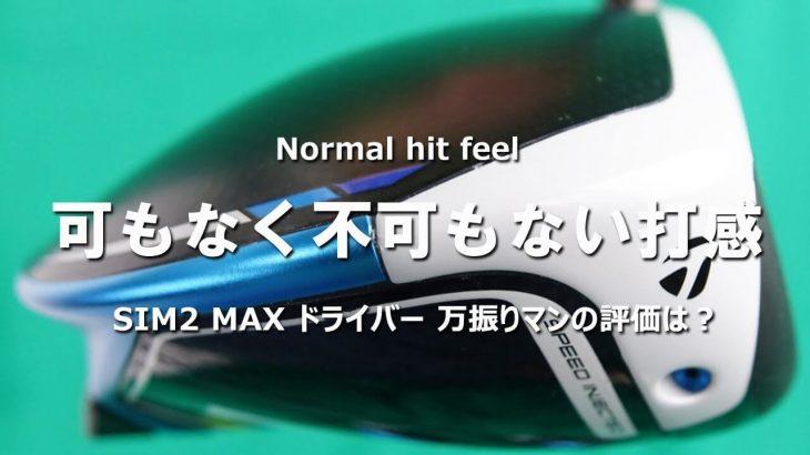 テーラーメイド SIM2 MAX ドライバー 試打インプレッション|フルスイング系YouTuber 万振りマン